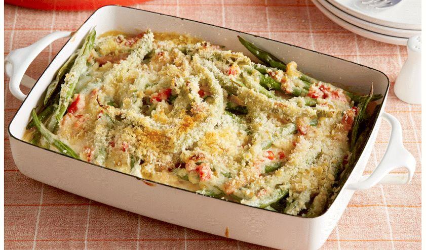 Запеканка из фасоли с овощами