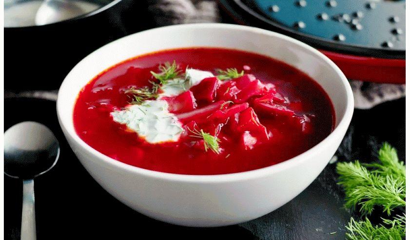 Борщ рубиново-красный - постные блюда
